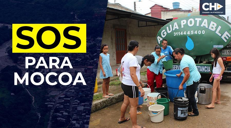 Tres derrumbes en el río Mulato, tienen sin agua a más de 50.000 personas  en el Municipio de Mocoa