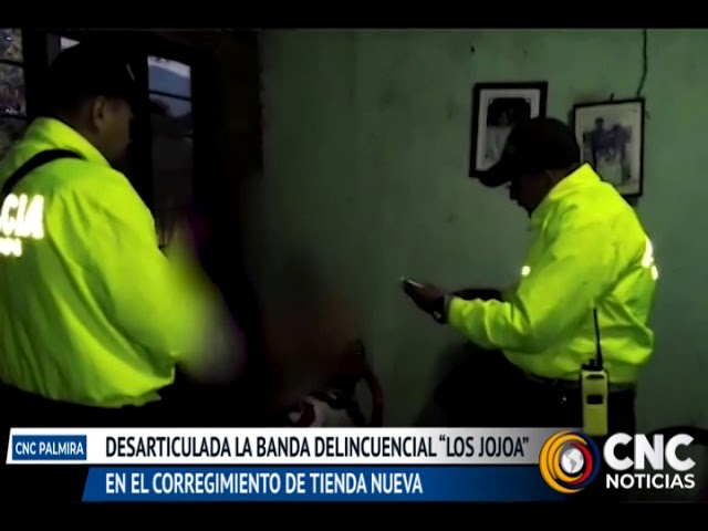 """Desarticulada la banda delincuencial """"Los Jojoa"""" en el corregimiento de Tienda Nueva"""