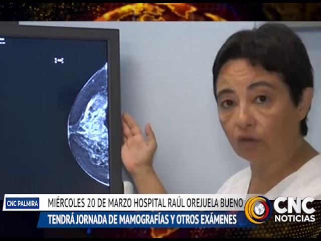 Jornada de toma de mamografías en el hospital ROB de Palmira