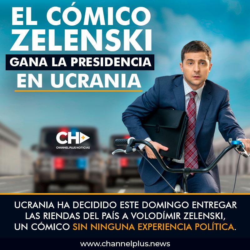 El cómico Zelenski gana la presidencia en Ucrania