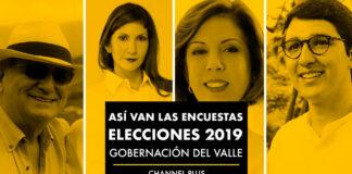 candidatos a la gobernación del valle del cauca 2019, así van las encuestas