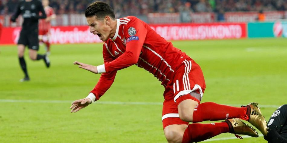 El Bayern confirma que James Rodríguez sufre 'endurecimiento muscular'