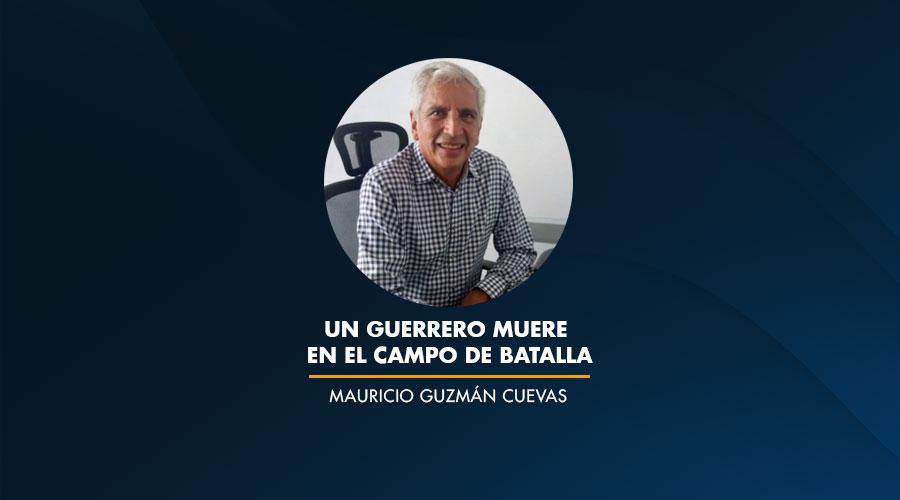 Un guerrero muere en el campo de batalla / Mauricio Guzmán Cuevas