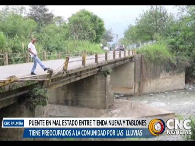 La comunidad de Tablones y Tienda Nueva se encuentran preocupadas por el mal estado del puente que se encuentra ubicado sobre el Río Nima.