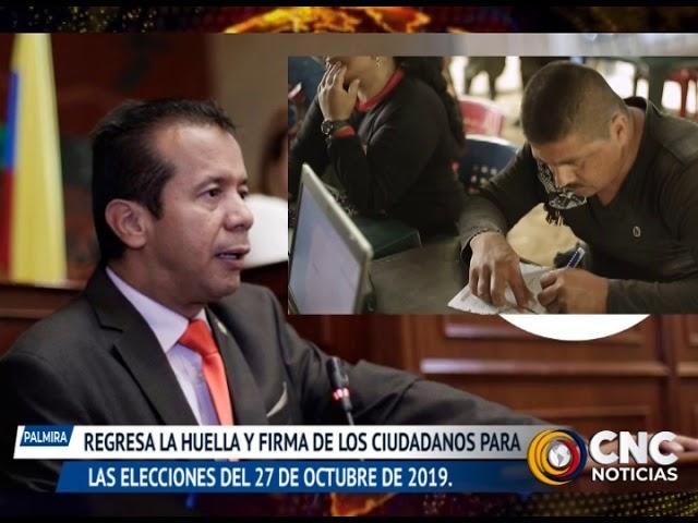 REGRESA LA HUELLA Y FIRMA DE LOS CIUDADANOS PARA LAS ELECCIONES DEL 27 DE OCTUBRE DE 2019