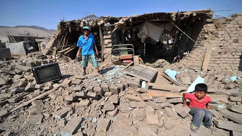Dos días después del Terremoto en Perú estas son las imágenes que nos llegan.