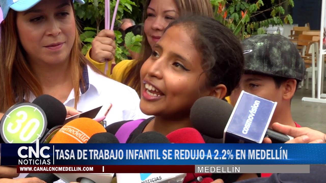 TASA DE TRABAJO INFANTIL SE REDUJO A 2.2% EN MEDELLÍN