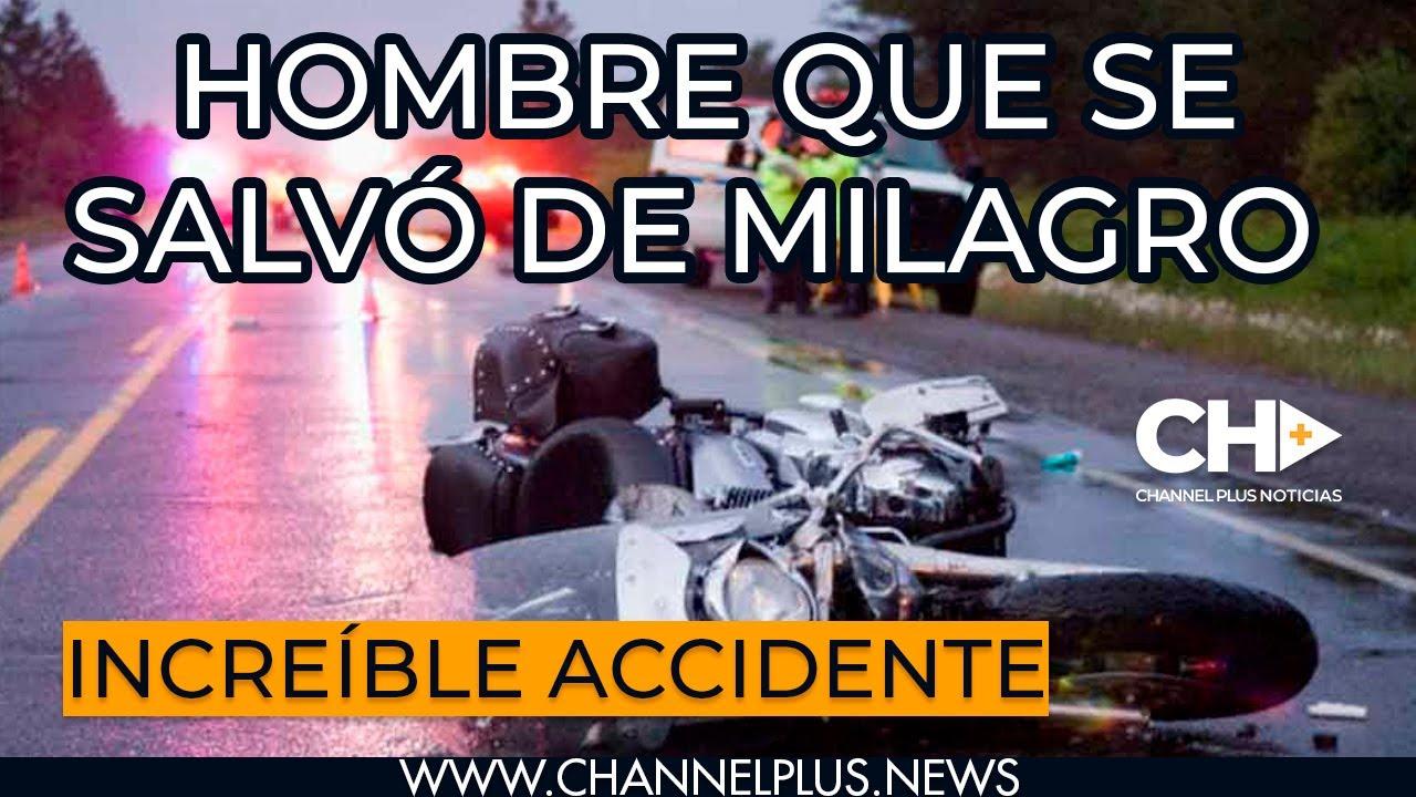 [VÍDEO] Increíble accidente y el conductor se levanta como si nada.