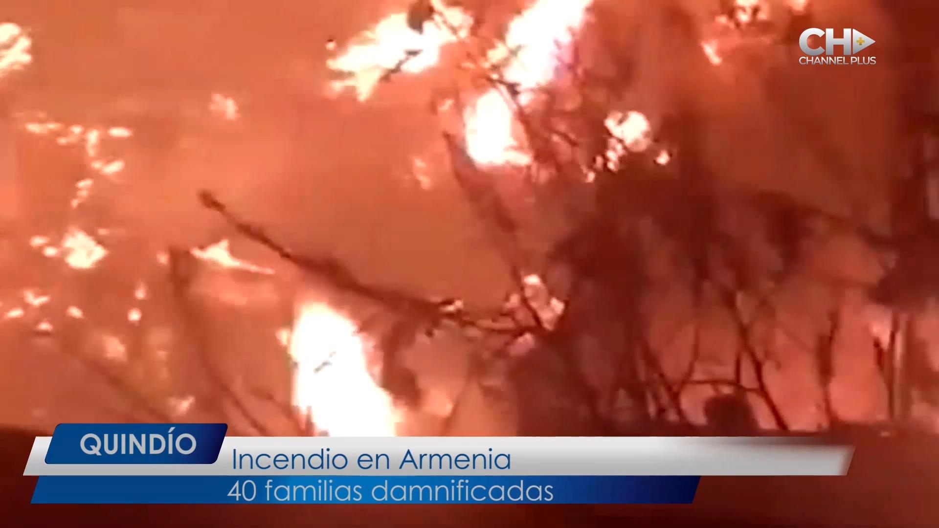 Incendio en Armenia… consumió 20 viviendas en  el barrio Guayaquil
