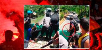 Un vídeo muestra cómo fanáticos del fútbol exhiben armas y amenazan de muerte a ocupantes de un bus. Luego se agredieron en Bogotá. La grabación permite ver a un grupo de jóvenes hinchas del Deportivo Independiente Medellín que viajaba de manera informal –como polizones- en un camión cargado con botellas de vidrio dispuestas para reciclar.