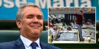 Recordando a el Presidente Duque en CAMPAÑA hablando con el gremio de taxistas
