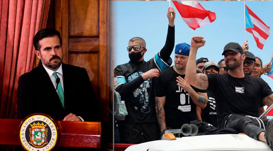 Ricardo Rosselló renuncia forzado por las intensas protestas tras el escándalo del chat