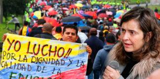Paloma Valencia decide claudicar el proyecto de Ley que prohibiría las HUELGAS de Maestros