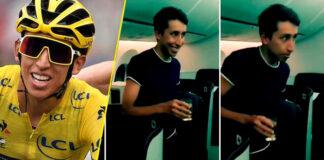 Homenaje a Egan Bernal en su vuelo hacia Colombia