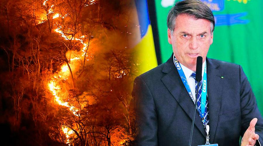 """Bolsonaro NO ACEPTA la ayuda de US$22 millones del G7 si Macron  no retira sus """"insultos"""""""
