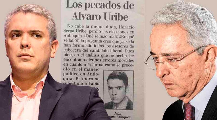 """Iván Duque confirmó que la columna titulada """"Los pecados de Álvaro Uribe"""" sí fue de su autoría"""