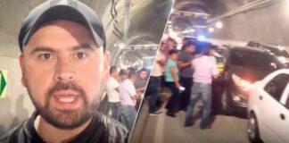 """""""menos mal se estrelló, para detenerse y conocer con más detalle el Túnel de Oriente"""": Quevedo"""