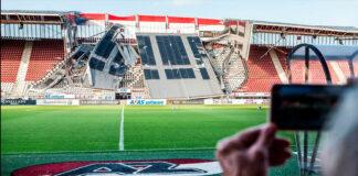 Susto en Holanda: se desplomó el techo del estadio del AZ Alkmaar