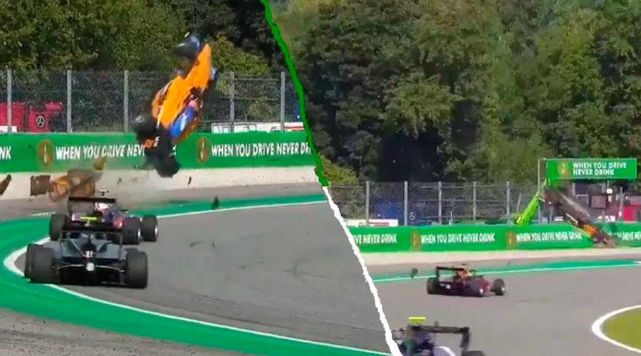 VÍDEO: Alex Peroni piloto de la Fórmula 3 vuela por el aire y sobrevive