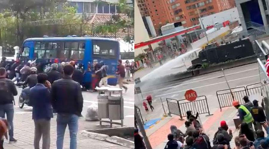 Varios heridos por disturbios con el Esmad en Bogotá