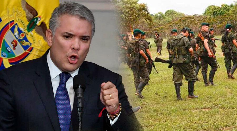 """""""Se entregan o serán perseguidos sin descanso"""": Duque a los disidentes de las FARC"""