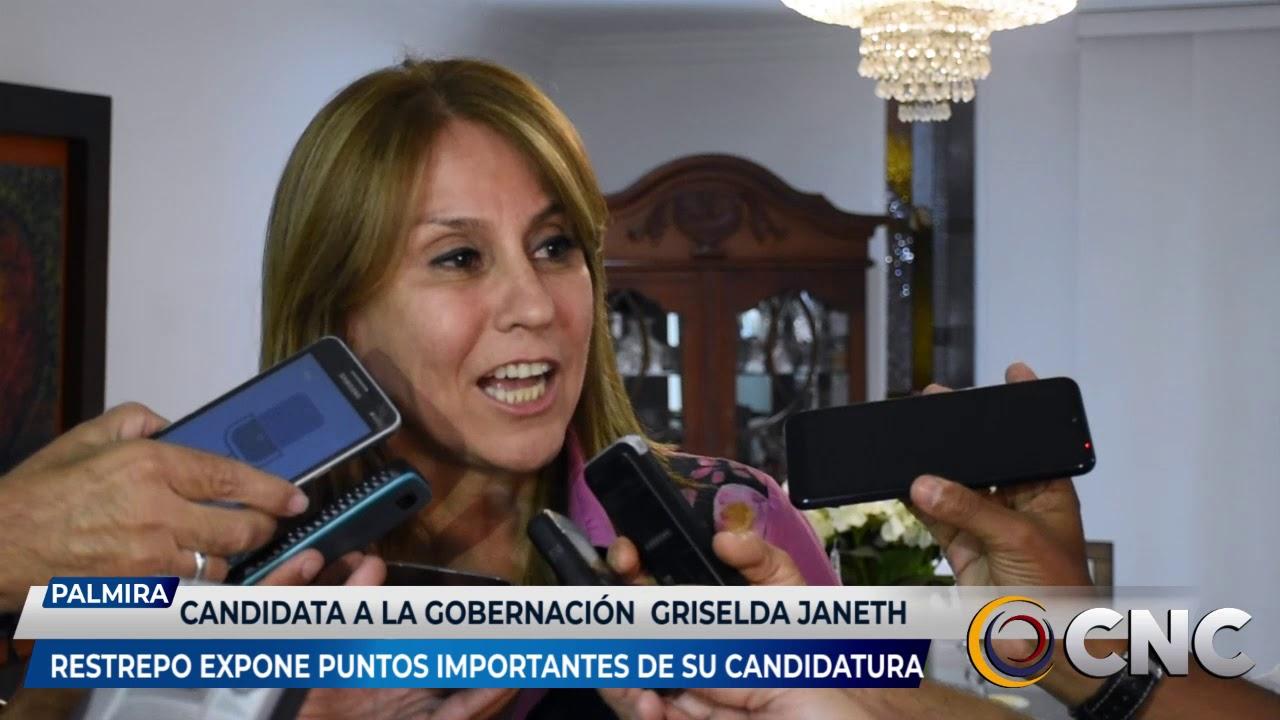 Candidata a la Gobernación del Valle, Griselda Janeth Restrepo expone puntos importantes de su candidatura