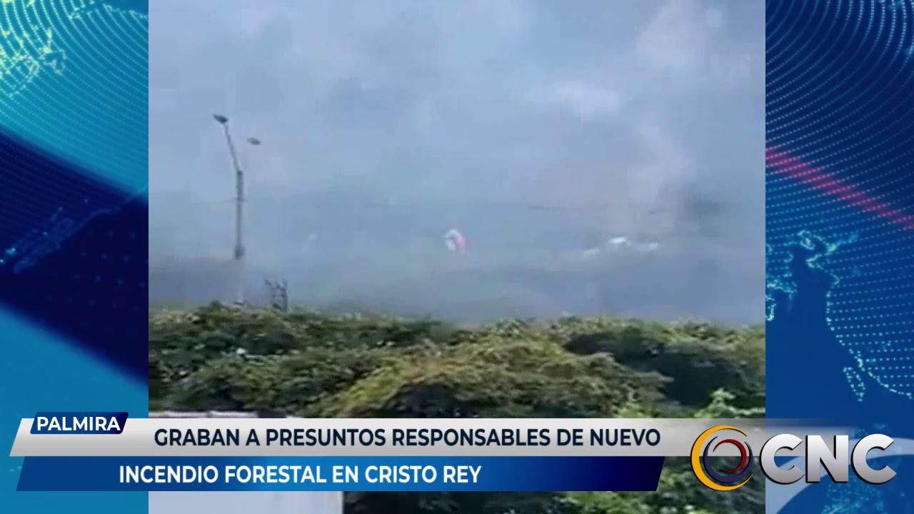 Graban a presuntos responsables de nuevo incendio forestal en Cristo Rey
