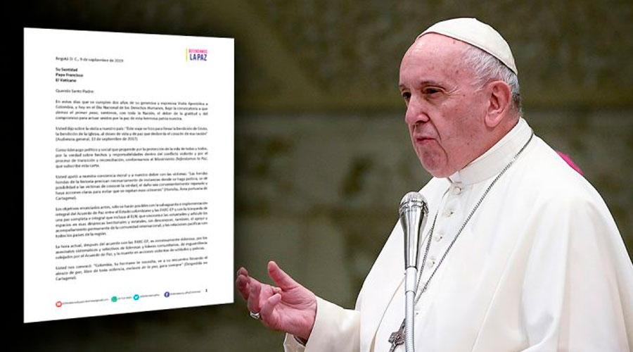 """Defendamos la Paz envía carta al Papa Francisco donde le piden """"velar"""" por el Acuerdo de Paz"""