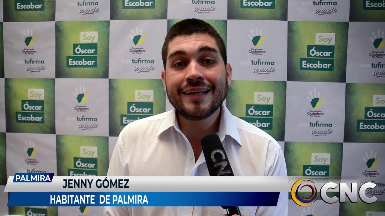 Oscar Eduardo Escobar nuevo alcalde de Palmira en entrevista para CNC noticias.
