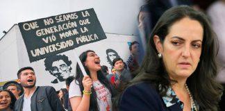 """""""La Universidad pública es un BARRIL sin fondo, HAY QUE SUBSIDIAR A LAS UNIVERSIDADES PRIVADAS"""": María Fernanda Cabal"""