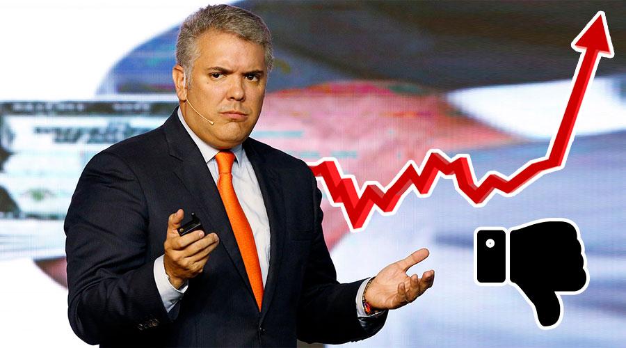 Duque llega al 69 % de MALA IMAGEN, la más alta de un presidente en 14 años