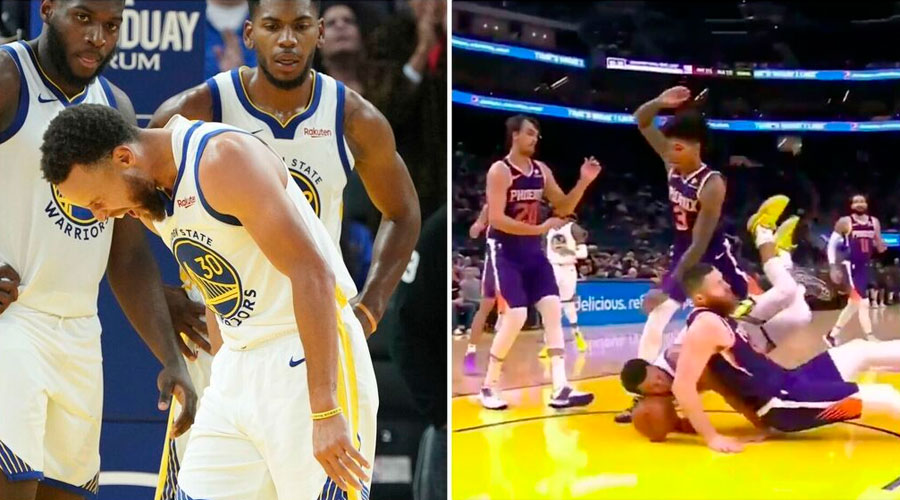 NBA: Le cae encima otro jugador de 118 kilos y le fractura su mano