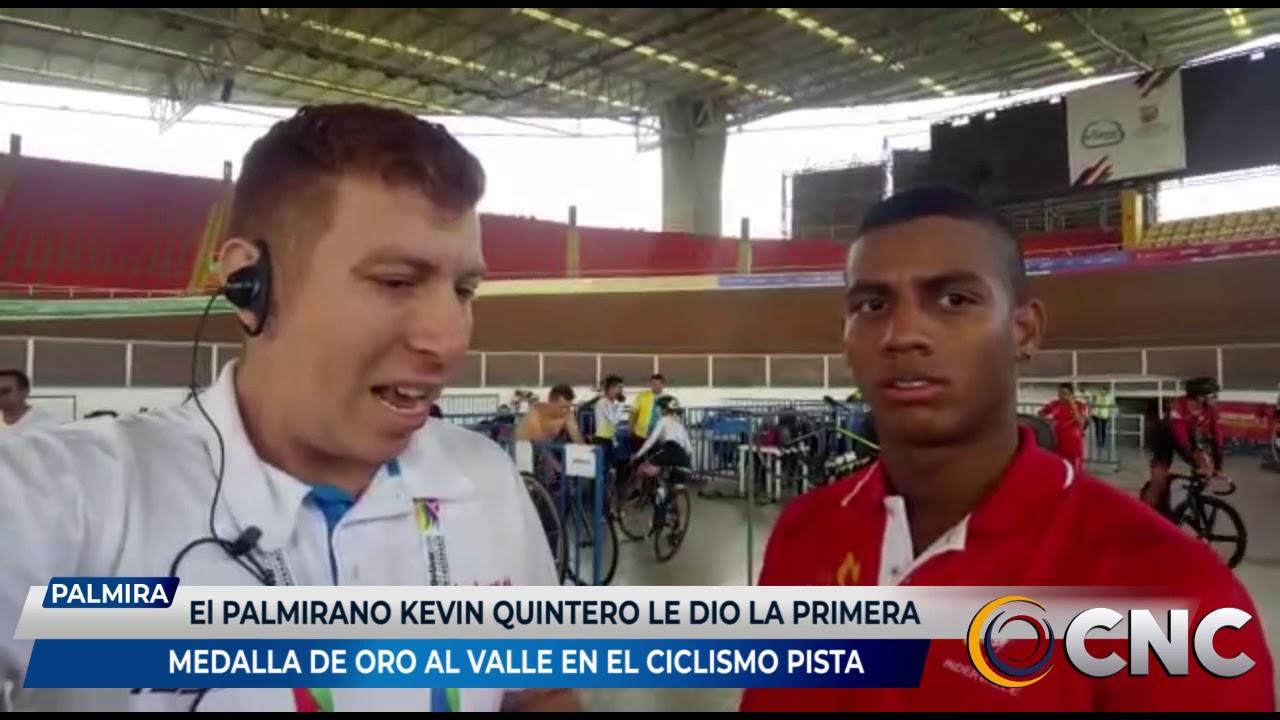 El palmirano Kevin Quintero le dio la primera medalla de oro al Valle en el ciclismo de pista