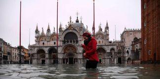 Las impresionantes imágenes de toda Venecia bajo el agua por el fenómeno de la marea alta