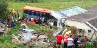 Al menos 15 heridos, en accidente en vía Bogotá- La Vega