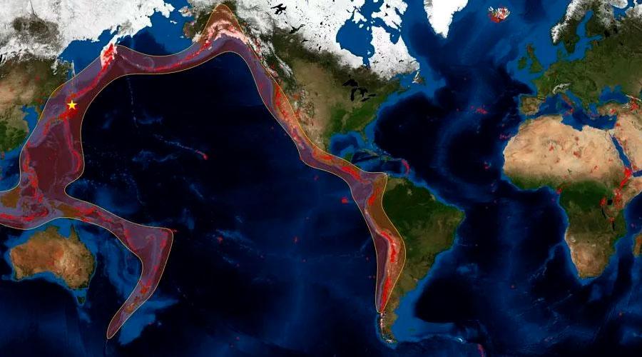 Se activa el CINTURÓN DE FUEGO del Pacifico con sismos en Colombia, Argentina , Canadá y Guatemala
