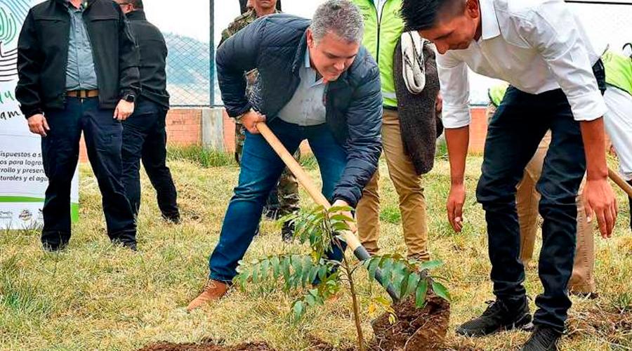 """Duque dice en Suiza que """"Hemos Sembrado 24,7 millones de árboles""""  ¿Demagogia o Realidad?"""