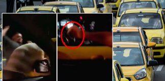 """Con destornillador en mano Taxista ataca a particular que le gritó """"¡viva Uber!"""""""