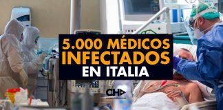 5.000 Médicos INFECTADOS en Italia, CRISIS para los centros Hospitalarios