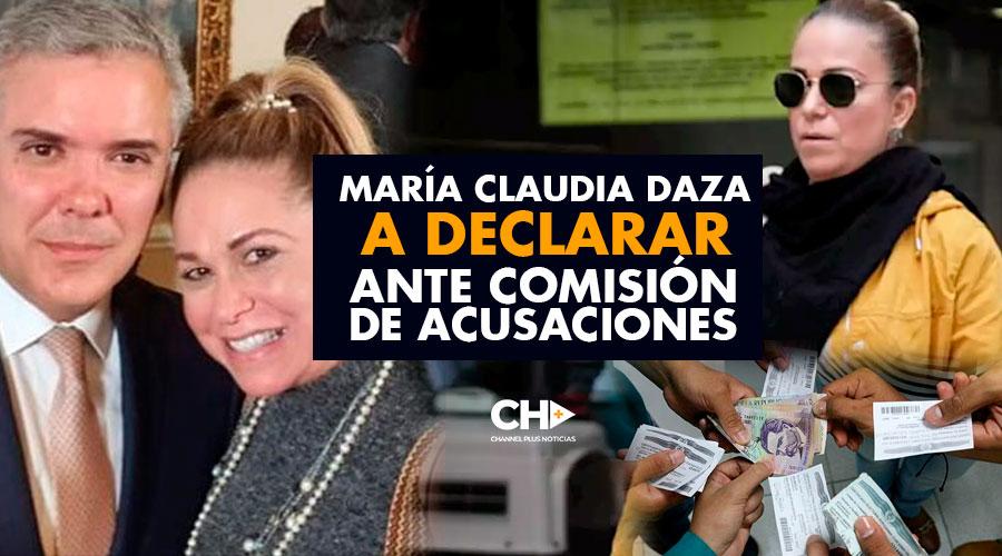 María Claudia Daza, a declarar ante Comisión de Acusaciones
