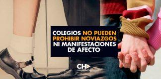 """""""Colegios no pueden prohibir noviazgos ni manifestaciones de afecto"""""""