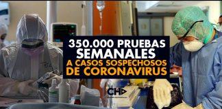 350.000 pruebas SEMANALES a casos sospechosos de coronavirus