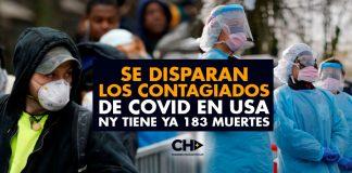 Se DISPARAN los CONTAGIADOS de COVID en USA - NY tiene ya 183 muertes