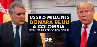 US$8,5 millones donará EE.UU a Colombia para crisis por coronavirus