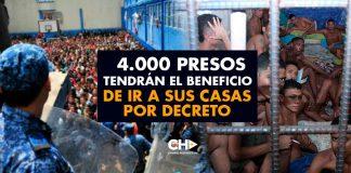 4.000 Presos tendrán el beneficio de ir a sus CASAS por decreto