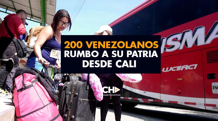 200 venezolanos rumbo a su patria desde Cali con apoyo del gobierno