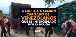 A Cali llega camión CARGADO de Venezolanos que es interceptado por la policía