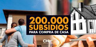 200.000 subsidios para compra de casa