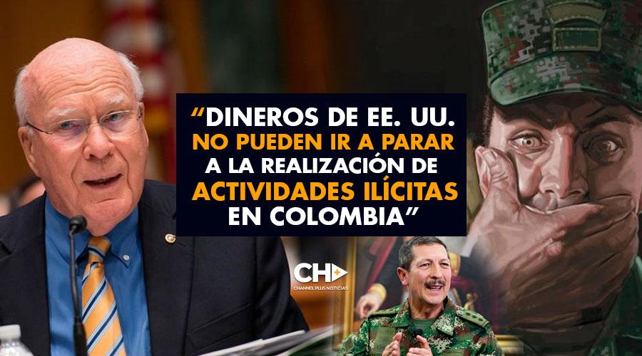 """""""Dineros de EE. UU. no pueden ir a parar a la realización de actividades ilícitas en Colombia"""""""