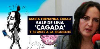 María Fernanda Cabal: Sale de una 'cagada' y se mete a la siguiente